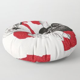 Apples with red shadows Floor Pillow