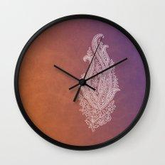 Indian Rustic Paisley Wall Clock