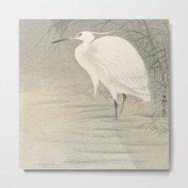 Little egret - Ohara Koson (1900-1930) Metal Print