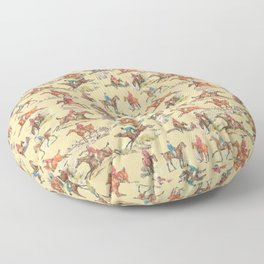 HORSE RIDING IN THE FIELD Floor Pillow