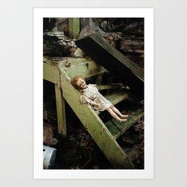 creepy doll Art Print