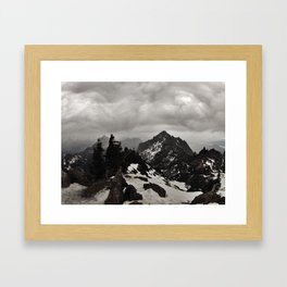 Stormy Day in the Olympic Mountains Framed Art Print