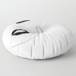 Lip & Brow Floor Pillow