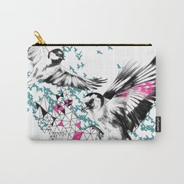 One Fell Swoop, Teal & Pink Carry-All Pouch