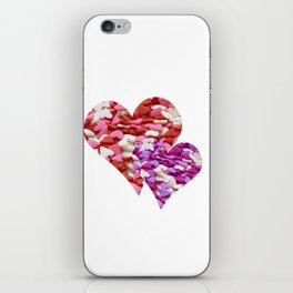 Two Candy Hearts - Pink, Red and Purple Valentine's Day Love iPhone Skin