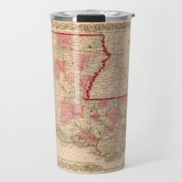Louisiana Map by J.H. Colton (1855) Travel Mug
