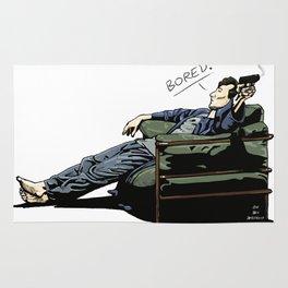 Sherlock - BORED (color version) Rug