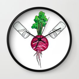 back to the beetroots Wall Clock