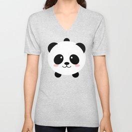 Lovely kawai panda bear Unisex V-Neck