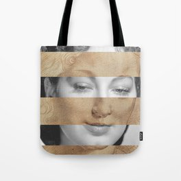 Leonardo da Vinci Head of Woman & Ava Gardner Tote Bag