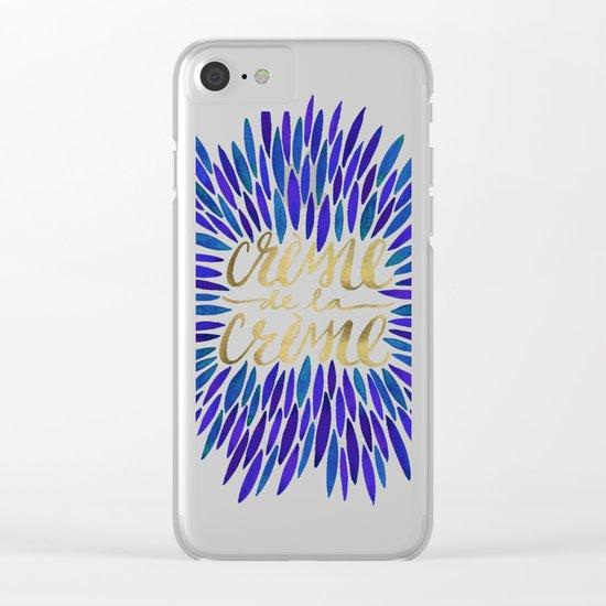 Crème de la Crème – Navy & Gold Clear iPhone Case