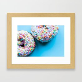 Sprinkle Donuts Framed Art Print