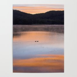 Out of the Depths (Sunrise on Lake George) Poster