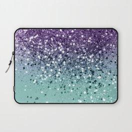 Purple Teal Mermaid Ocean Glitter #1 (Faux Glitter) #shiny #decor #art #society6 Laptop Sleeve