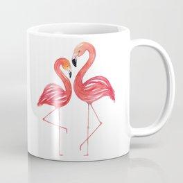 Flamingo Love Watercolor Painting Coffee Mug