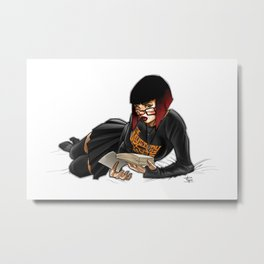Goth Velma Reading Metal Print