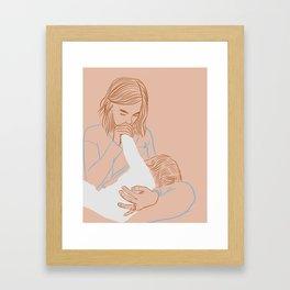 A Kiss of the Hand Framed Art Print