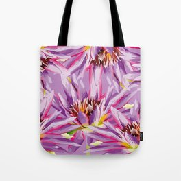 Big Waterlilies purple Tote Bag
