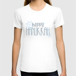 Happy Hanukkah | Snowflakes T-shirt