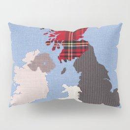 British Isles Fabric Map Art Pillow Sham