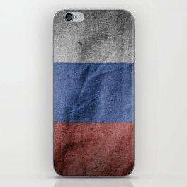 Old Vintage Grunge Russia Flag iPhone Skin
