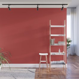 Valiant Poppy | Pantone Fashion Color | Fall : Winter 2018 | New York and London | Solid Color Wall Mural