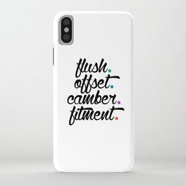 flush offset camber fitment v5 HQvector iPhone Case