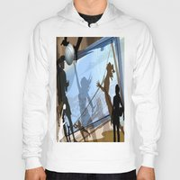 volleyball Hoodies featuring Anyone For Volleyball? by Robin Curtiss