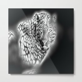 Ghost Leopard Metal Print