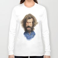 pirlo Long Sleeve T-shirts featuring Andrea Pirlo - Italy by Sant Toscanni
