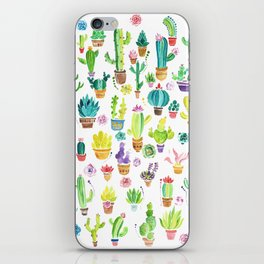 Happy Cactuses iPhone Skin