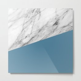 Marble and Niagara Color Metal Print