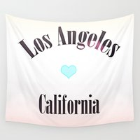 los angeles Wall Tapestries featuring Los Angeles by SoCal Chic Photography