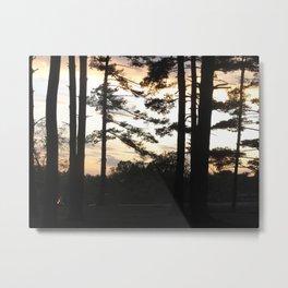 Campsite Sunset Metal Print