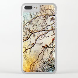 Out On A Limb Jewel Tones Clear iPhone Case