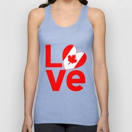 Canadian Red LOVE Unisex Tank Top