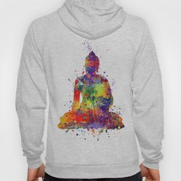 Buddha Watercolor Yoga Poster Zen decor Hoody