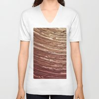 tree rings V-neck T-shirts featuring Rings by Kathy Dewar