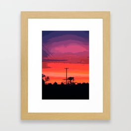 SUNSET 6 Framed Art Print