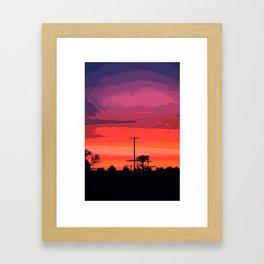 SUNSET 6 Framed Art Print