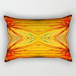 Orange Firethorn Quad III by Chris Sparks Rectangular Pillow