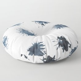 Smashed ink brush Floor Pillow