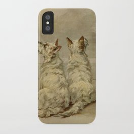 Earl,Maud(1864-1943) -The Power of the Dog1910 Terrier) iPhone Case