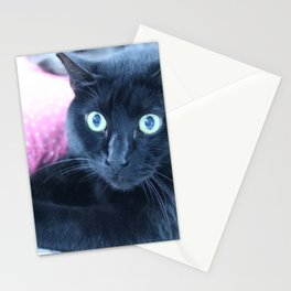 Spooky the Black Feral Halloween Sanctuary Cat Stationery Cards