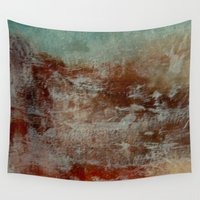 lake Wall Tapestries featuring lake by abstractgallery