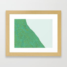 from the series block and tube Framed Art Print