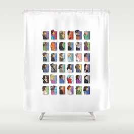 She Series - Real Women Collage 1-4 Shower Curtain