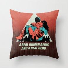 A Real Hero Throw Pillow