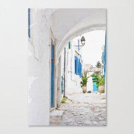 Tunisian street Canvas Print