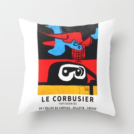 Le Corbusier 1963 Exhibition Poster, Artwork for Wall Art, Prints, Posters, Tshirts, Men, Women, Youth Throw Pillow